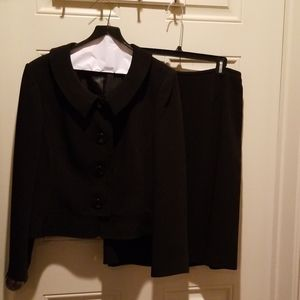 Black lined suit with skirt